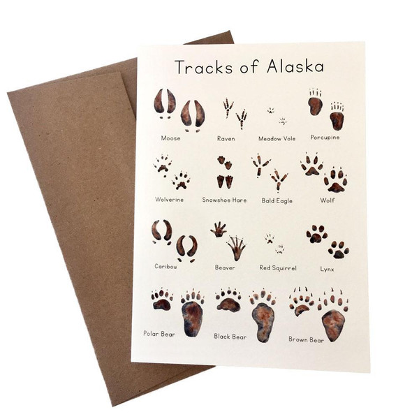 Alaska Animal Tracks Note Card