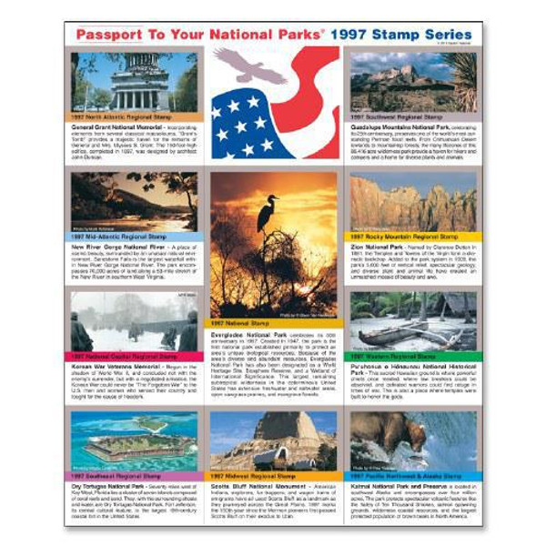 Passport NP Stamp 1997 - Featuring Katmai National Park and Preserve