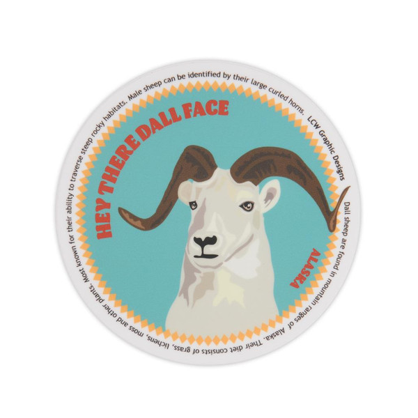 Sticker - Hey there Dall Face Dall Sheep