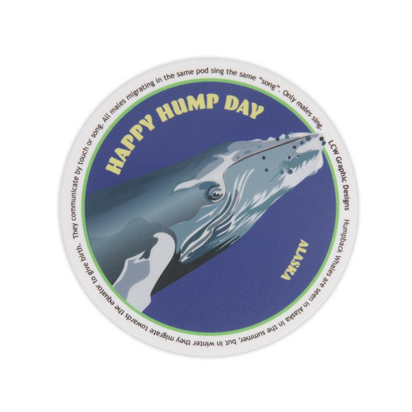 Sticker - Happy Hump Day Humpback Whale