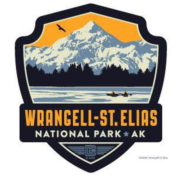 Sticker - Retro Wrangell St. Elias Emblem
