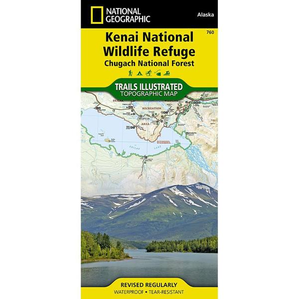 Kenai National Wildlife Refuge National Geographic Trails Illustrated Map