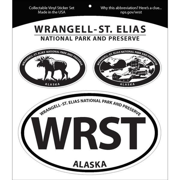 Triple Sticker Set - Wrangell-St. Elias National Park & Preserve
