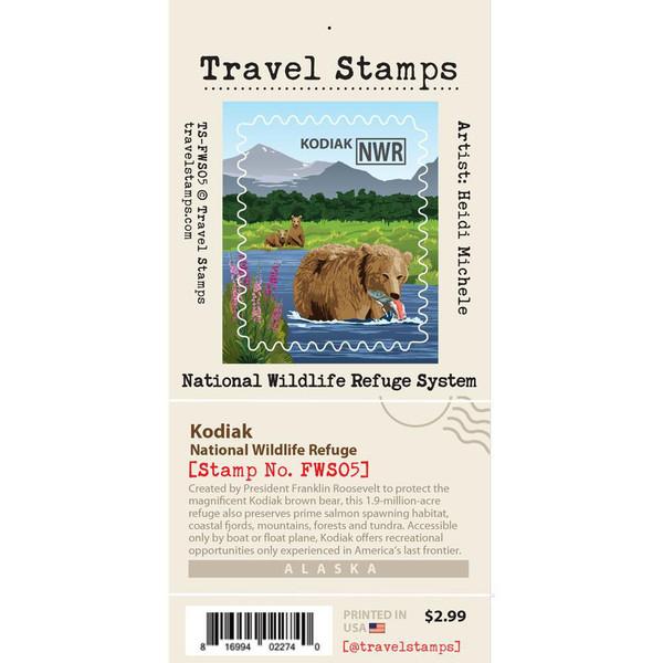 Travel Stamp - Kodiak National Wildlife Refuge