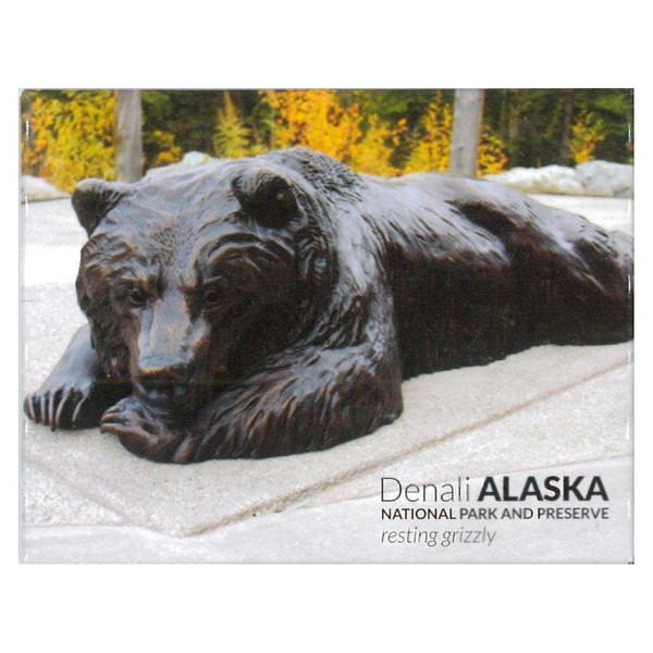Magnet - Denali National Park Resting Grizzly