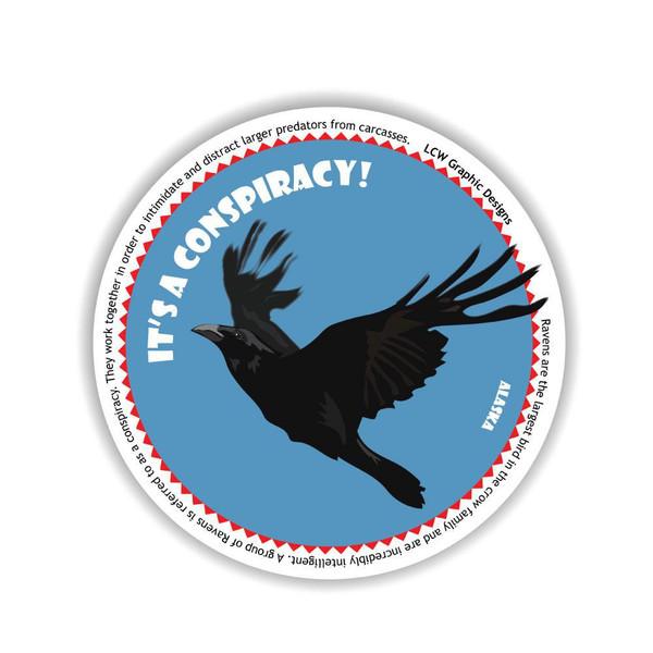 Sticker - It's A Conspiracy! Raven