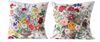 "18"" Square Cotton Floral Pillow"