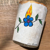 Original Luis Romero Painting on Votive Candle Holder Prickly Pear Cactus