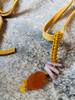 Carnelian and Kynzite Pendant on Leather
