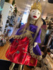 Marionette Puppet Princess or Queen in red Dress with Purple Coat