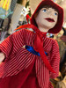 Marionette Puppet Little Red Stripe Riding Hood