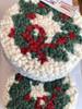 Wreath Hooked Wool Coaster Set of 4