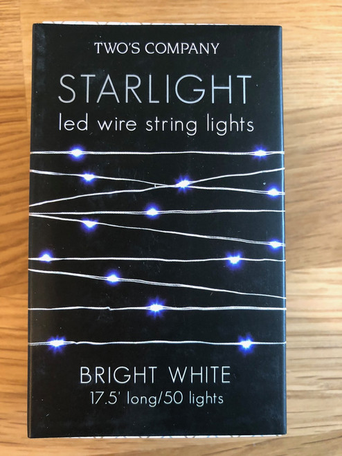 Starlight LED Battery Operated Silver Wire String Lights With Bright White Lights (BRIGHT WHITE)