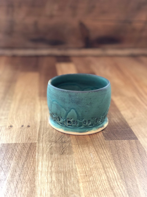 Small Patina Planter Pot Handmade Ceramic Pottery