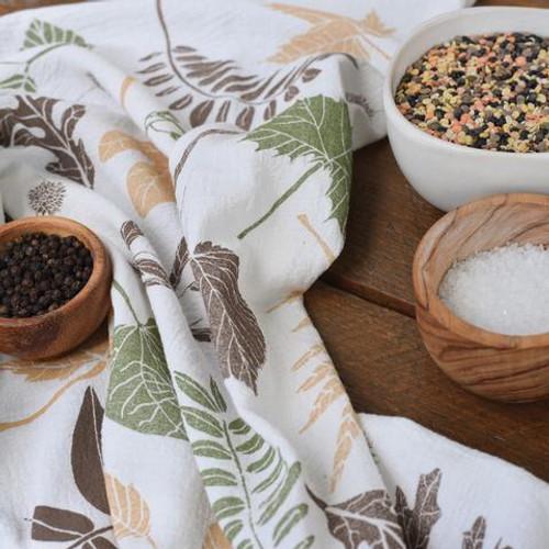 Leaf Pile Kitchen Towel