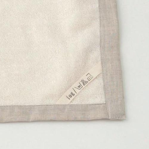 Linen Massage Bath Mat in White