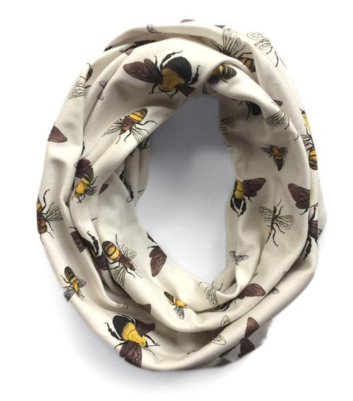 Bumble, Honey, & Squash Bees Infiniti Scarf