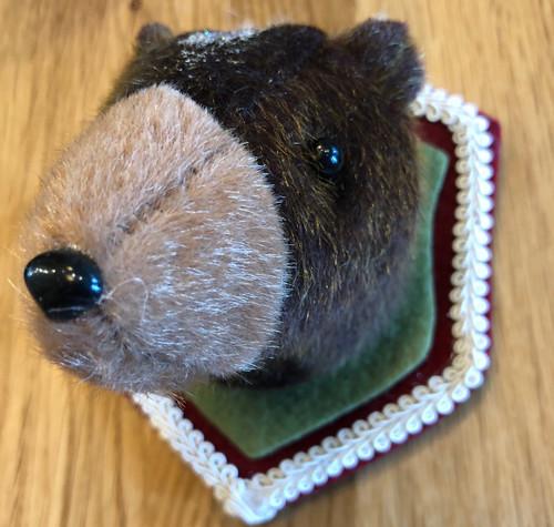 Bear Head Trophy Mount Ornament