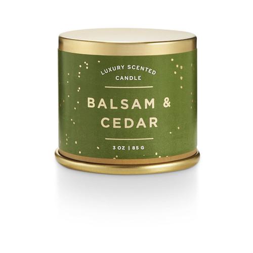Balsam & Cedar Demi Tin Candle
