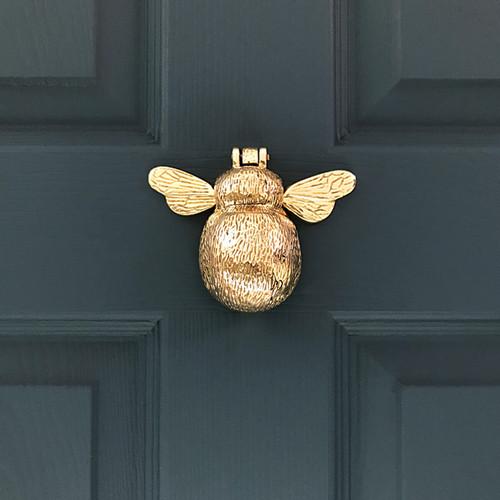 Solid Brass Bumble Bee Door Knocker