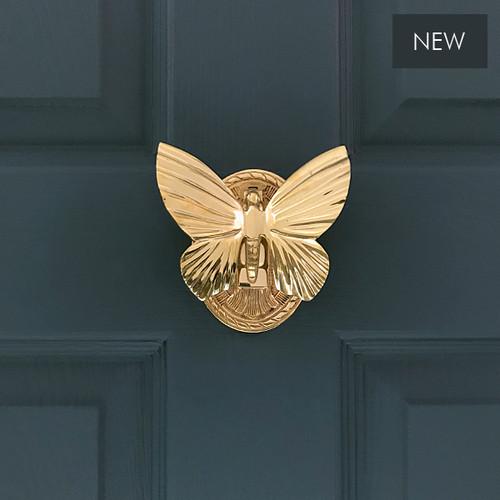 Solid Brass Butterfly Door Knocker