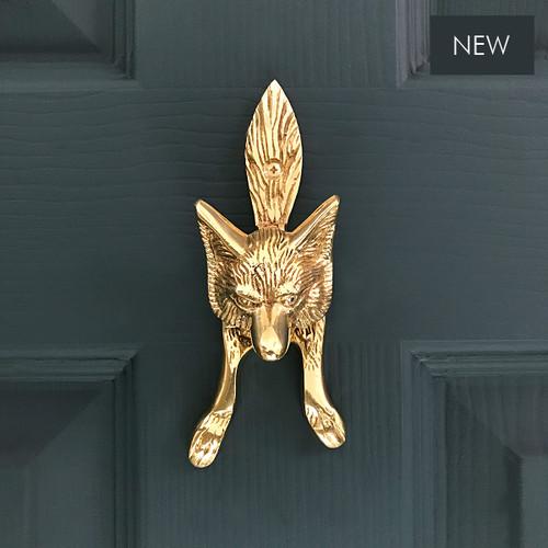 Solid Brass Fox Cub (SMALL) Door Knocker