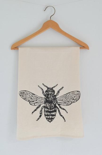 Organic Honeybee Tea Kitchen Towel