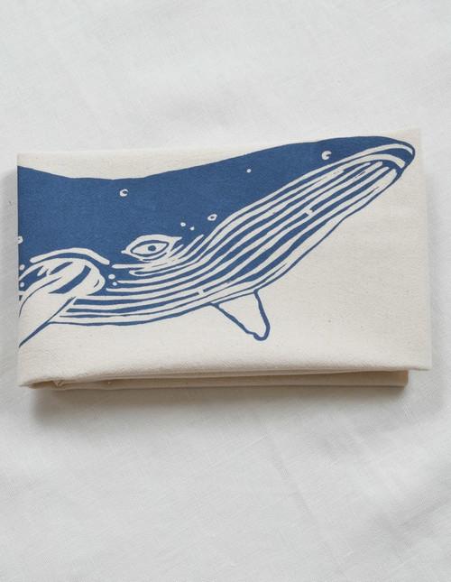 Organic Whale Tea Kitchen Towel