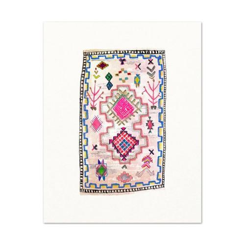 "Moroccan Rug Print #9 5"" x 7"""