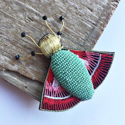 Bug Brooch Pin Rosie