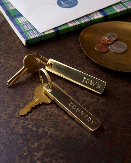 Brass Town & Country Key Chain Pair