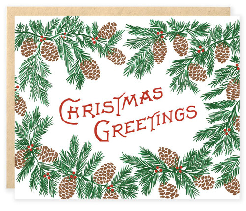 Christmas Greetings (BOX OF 6) Christmas Cards