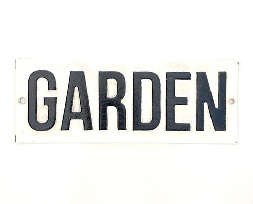 Cast Iron Garden Sign