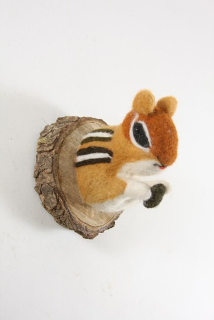 Felt Chipmunk Wall Mount