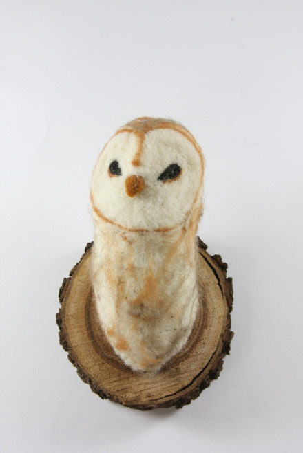 Felt Barn Owl Wall Mount