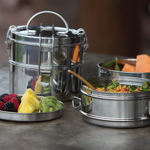 2 Tier Tiffin Stainless Steel Food Carrier