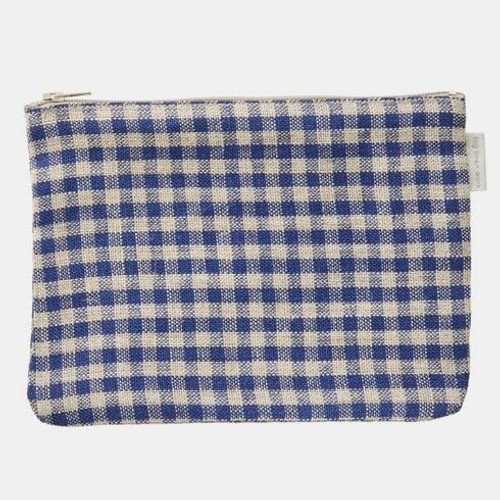 Gingham All Purpose Zip Pouch Bag