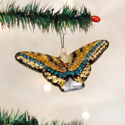 Swallowtail Butterfly Glass Ornament