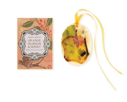 Oval Botanical Wax Sachet – Orange Blossom & Honey
