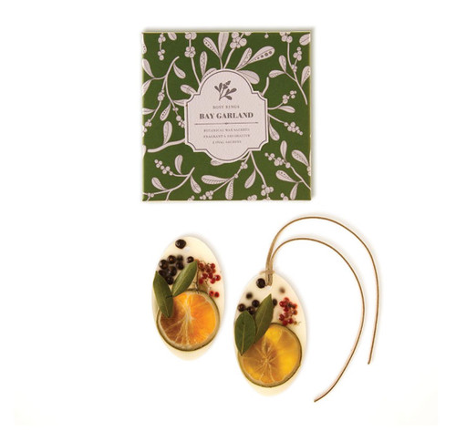Oval Botanical Wax Sachets – Bay Garland