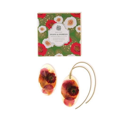 Oval Botanical Wax Sachets – Peony & Pomelo