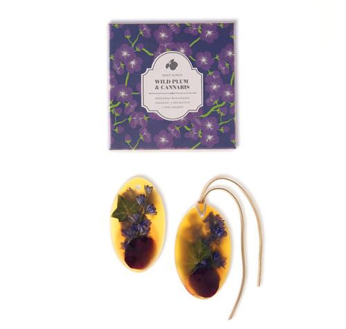 Oval Botanical Wax Sachets – Wild Plum & Cannabis