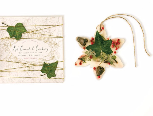 Snowflake Botanical Wax Sachet – Red Currant & Cranberry