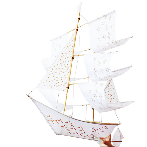 Sailing Ship Argo Kite in White LIMITED EDITION
