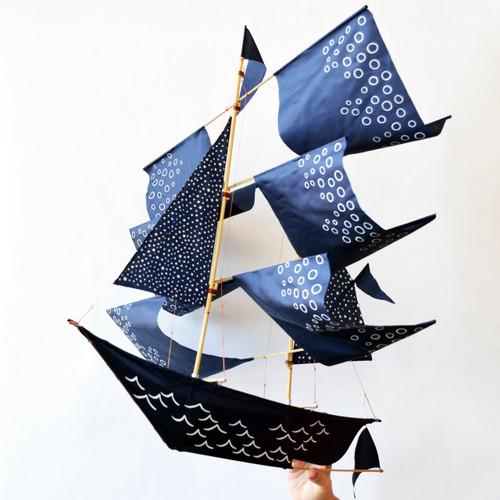 Sailing Ship Theseus Kite in Blue LIMITED EDITION