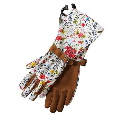 Garden of Paradise Floral Arm Saver Garden Gloves in Medium