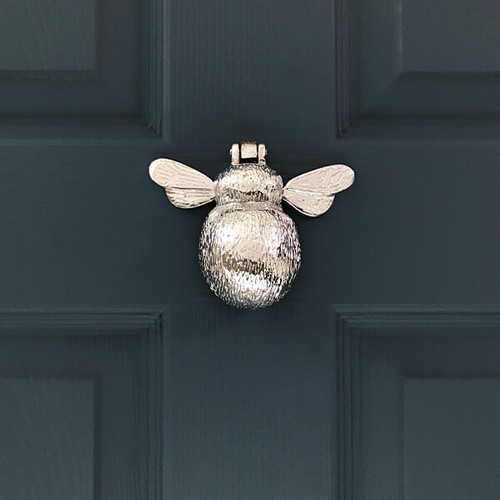 Chrome Bumble Bee Door Knocker