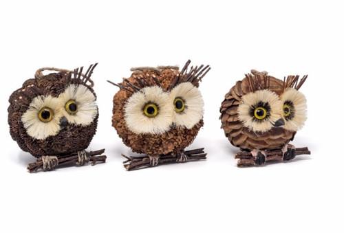 Owl Head Ornament
