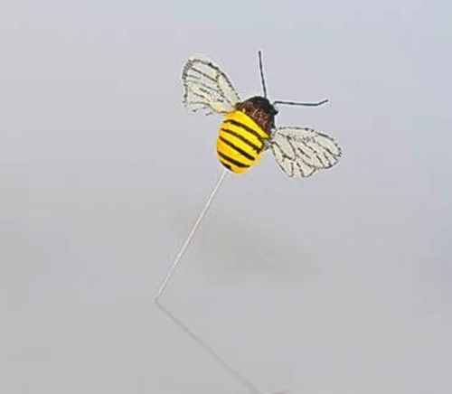 Bumble Bee Yellow Black on Wire .75""