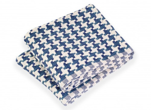 Brahms Mount Bucksport Cotton Day Blanket Indigo